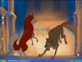 Balto and Jenna Screen Saver by FoxBabe