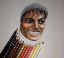 WIP: Michael Jackson Thriller Portrait by pseppy1