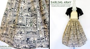 Legendary Hero Legend of Zelda Tea Length Skirt by DarlingArmy