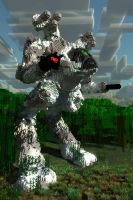 Minecraft Mecha by BlueBlankey