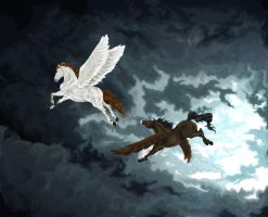 Flying Peace by SolinaBright