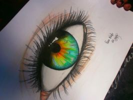 my first decent eye by japochan