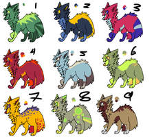 Adoptable 4 10 points each! (ONLY 4 LEFT) by deviladoptable