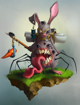Infected Rabbit by Jack-Yattering