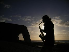 Saxophone Player by lucky-april