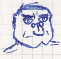 Serious Guy Face Scribble by vonRibbeck