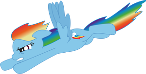My Little Pony: FiM Rainbow Dash Fly Vector by ChaosGiant