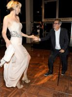 Tall Jenna Elfman dancing by lowerrider