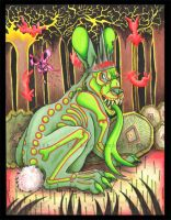 Psychedelic Black Rabbit by Shadyufo