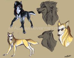 Character sketches 1 by Autlaw