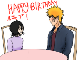 Happy B-day to Rukia! 1.14.14. by PeachBerryDivision