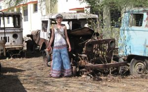 Clare with Old Car by hotmetal53