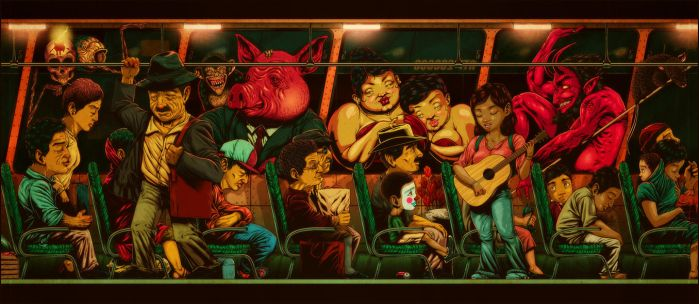 Creepy rich political pigs / La carencia by rafahu