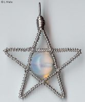 Moonstone Star Charm 2 by LWaite