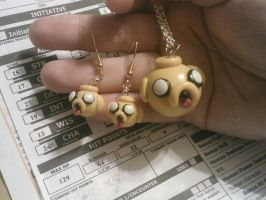 Jake-sploder necklace and earrings set by ShadyDarkGirl