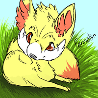Fennekin Binary Color by Kientrae