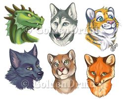 Pre-made Badges Set 1 by GoldenDruid