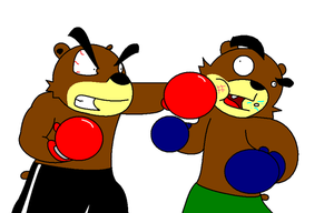 Bear Boxing by Snorunt-Thief