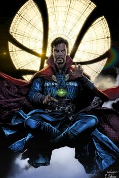 Benedict Cumberbatch as Doctor Strange by krissthebliss