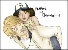 Pewdie And Clem by Silversage2012