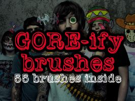 Gore-ify GIMP brushes by escapeTHEfate21
