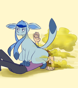 Glaceon Sketch by CaraFalsa