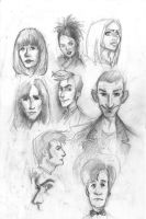 Doctor Who characters by kissyushka