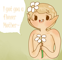 I Got You a Flower Mother by Ask-MusicPrincess3rd