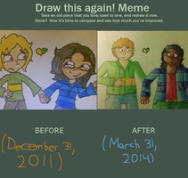 Draw This Again Meme (2011 vs 2014) by IrrelevantFrenchFry