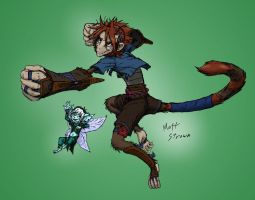 Tejay and Collie - Colored by Faullyn