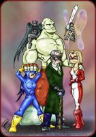 Typical group of superheroes by jomra