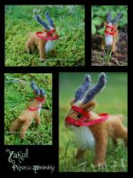 needlefelted yakul by heyemilyann