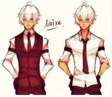 Neire without red long coat by Neire-X
