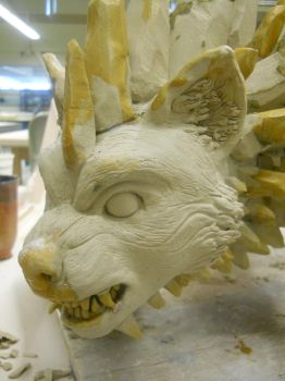Icebrood Wolf (Face Detail) by Halfling-J