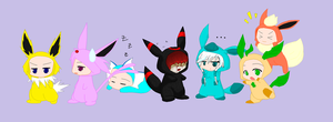Eeveelution collab-My part- by Caneage