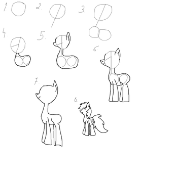 How i draw ponies. by Rarity-Vore