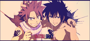 Natsu and Gray Signature by DeathB00K