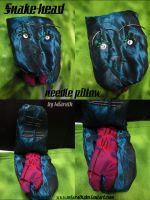 Snake-head needle pillow by Miarath