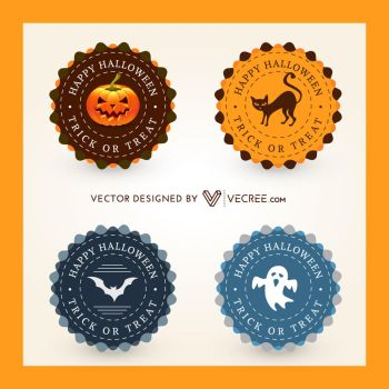 Halloween Badge Free Vector by vecree