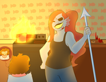 Now let's get the hell out of this burning house:D by Channydraws