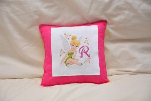 Tinkerbell Cushion by VickitoriaEmbroidery