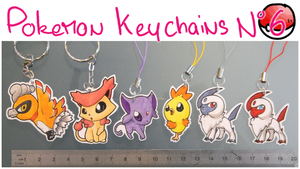 Pokemon Keychains 6 by Dragounette