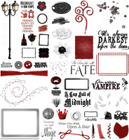 True Blood / Vampire: Word Art + Clear Cut PNG 23 by Riogirl9909stock