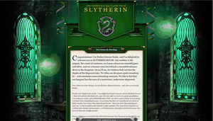 Slytherin House Welcome Letter by ProudToBeATeenGeek