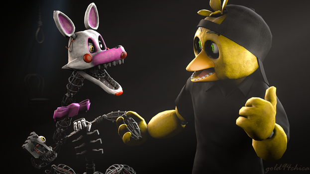 Come on Mangle, your friends are waiting for you by gold94chica