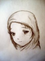 Girl in Scarf by mosten94