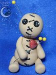Cute as a Button Voodoo Doll by SmilingMoonCreations
