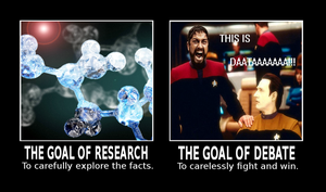 RESEARCH vs DEBATE by paradigm-shifting