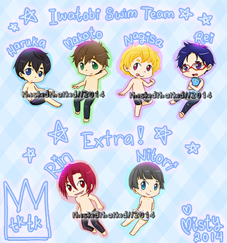 Free! : Swimming Chibis by thiskidthatkid