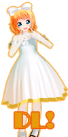 UPDATE- UPDATE White Dress Rin! DL! by DIBUJOSLOVE